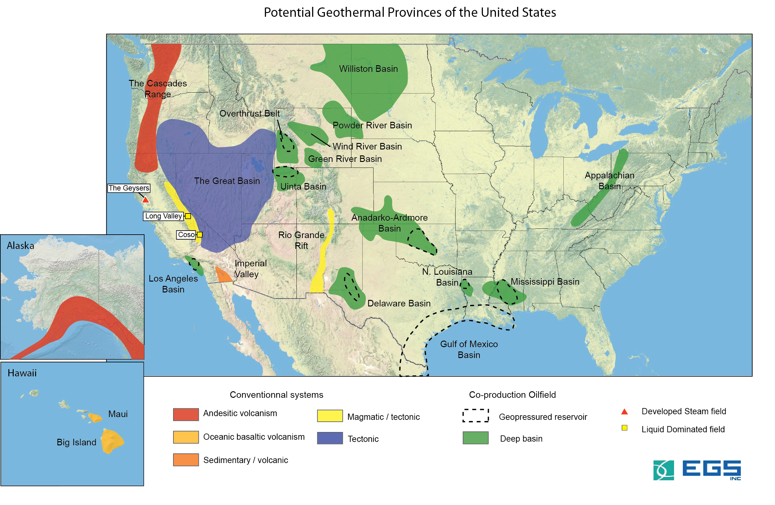 USA Geothermal systems